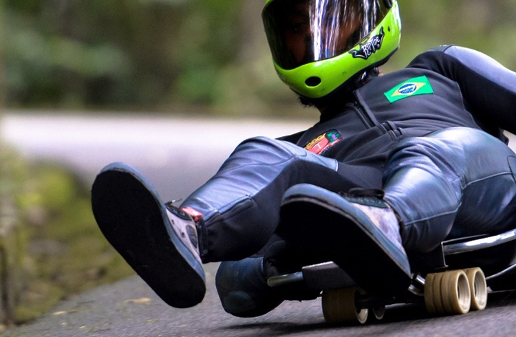 Grandes nomes do Downhill Speed, do Street Luge e do Vertical representam skate brasileiro no World Roller Games