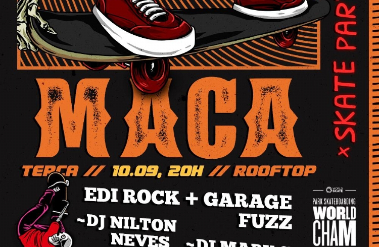 M.A.C.A. Skate Party será celebração de abertura do World Skate Park Skateboarding World Championship