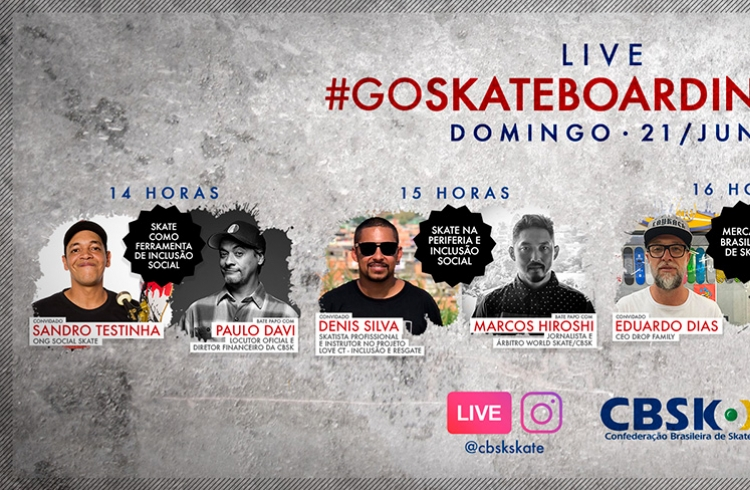 CBSk prepara sessão de lives no domingo (21) para celebrar Go Skateboarding Day